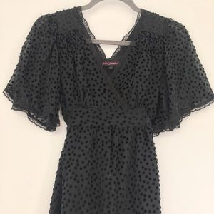 Vintage Betsey Johnson Burnout Dot Dress
